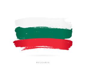 Flag of Bulgaria. Brush strokes