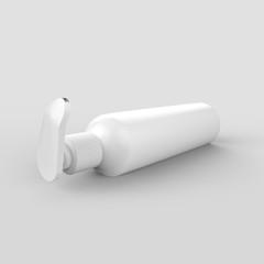 Blank Cosmetic Bottle Dispenser For Hand Wash, Cream, Body Lotion, Liquid Gel, Shampoo, Bath Foam. Mock Template on Isolated White Background. 3D Illustration