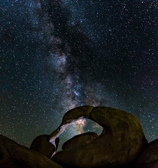 Milky Way Passing Over Natural Rock Arch