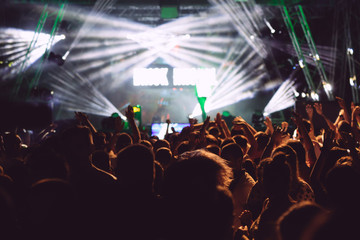 Crowd in a concert
