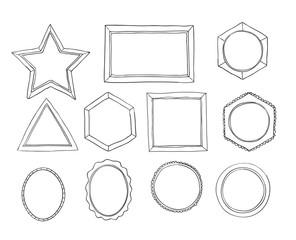 frames set line art Hand drawn vector art