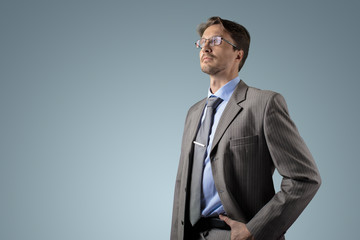 Businessman at gradient background