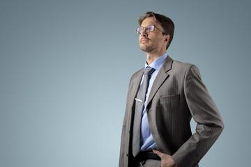 Businessman at gradient background