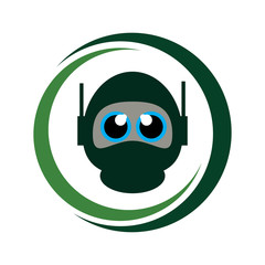 design vector ninja head