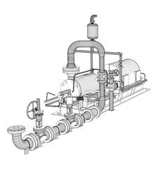Wire-frame industrial pump