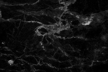 Black marble texture in natural pattern with high resolution for background and design art work. Black stone floor.