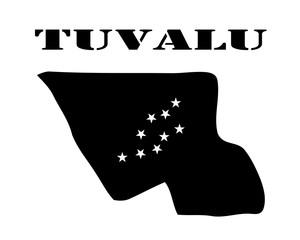 map of Tuvalu in black color