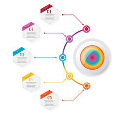 Timeline infographics design vector and marketing icons can be used for workflow layout, diagram, annual report, web design. Business concept with 5 options, steps or processes.