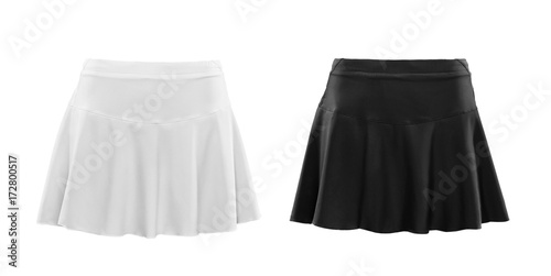 e3b19128bd Black and white skirt isolated on white background