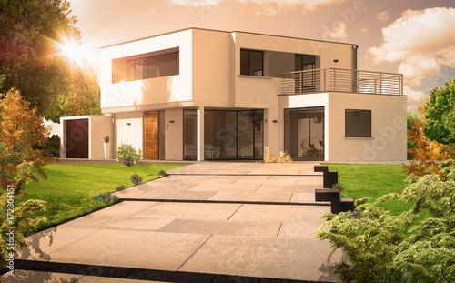 Belle maison d 39 architecte photo libre de droits sur la - Belle maison d architecte los angeles ...