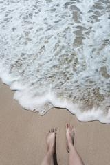 Strandurlaub, Baden im Meer