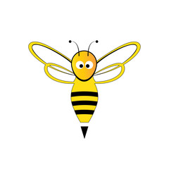 logo design of honey bee