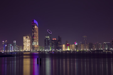 Abu Dhabi Night Cityscape
