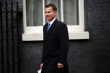 Jeremy Hunt, Britain's Secretary of State for Health, arrives for a cabinet meeting at 10 Downing Street in London