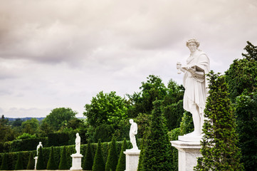 Statues in Garden of Versailles palace