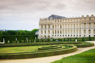Garden of Versailles palace and palace building