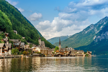 Hallstatt mountain village in the Austria