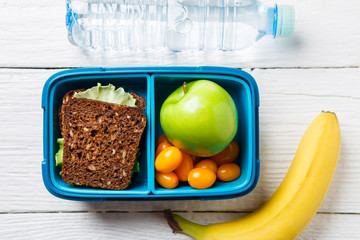 Image of fitness snack in lunch box