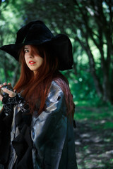 Picture of witch in black hat