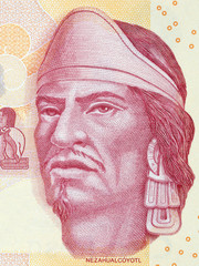 Nezahualcoyotl portrait from Mexican money