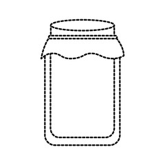 glass jar with cap filled with honey vector illustration