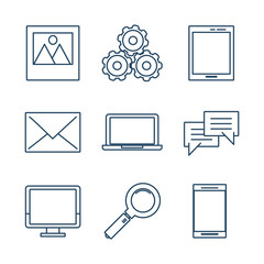 Cloud computing icons icon vector illustration graphic dsign