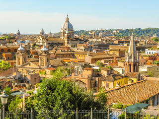 Photo sur Aluminium Rome View of roofs and cityscape of Rome