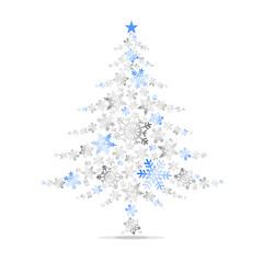 Arbre de Noël Flocons Bleu
