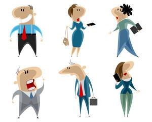 Businessmen and businesswomen