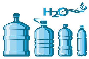 collection of different plastic water bottles