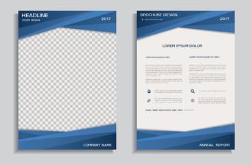 Blue brochure template