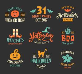 Halloween Logo Templates, Badges Set
