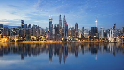 Kuala Lumpur skyline during night
