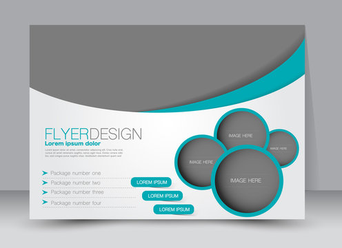 Flyer, brochure, billboard template design landscape orientation for education, presentation, website. Green color. Editable vector illustration.