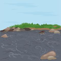 Река и камни