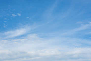 Blue sky, cloud