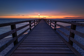 A sunset at the pier.