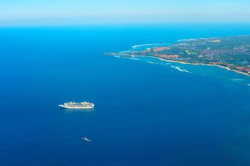 Luxury ship cruise. Bali island