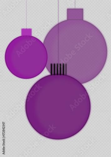boules de noël violettes déco\