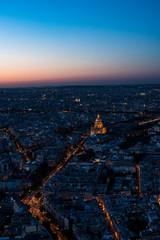 Beautiful panoramic of Paris at sunset