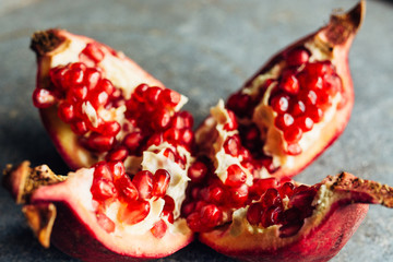 Opened pomegranate