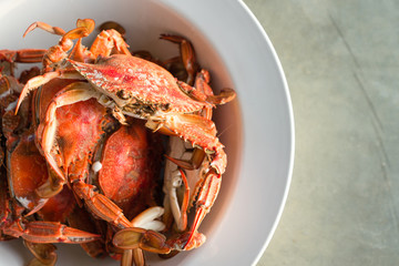 cooked blue swimmer crab