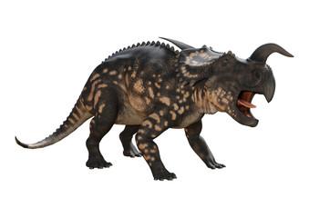 3D Rendering Dinosaur Einiosaurus on White