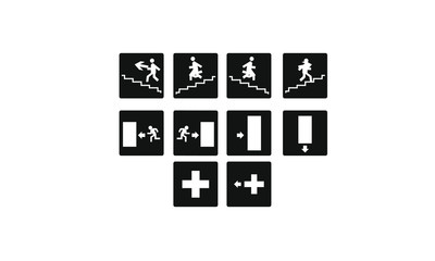 Exit information icons