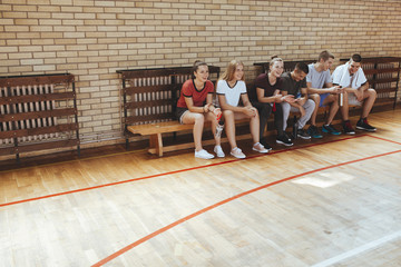 Students at School Gym