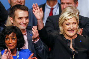 French far-right National Front (FN) vice-president Philippot attends the 2-day FN political rally to launch the presidential campaign in Lyon