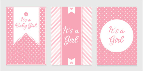 It's a girl card or background.