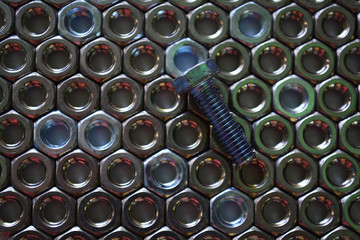 pattern of metal fasteners