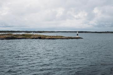 Small lighthouse on Stockholm archipelago
