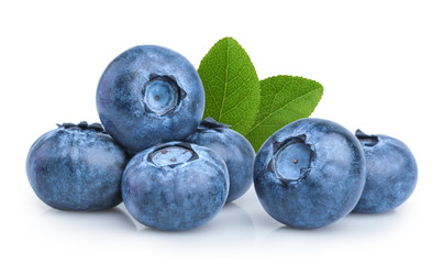 Wall Murals Fruits blueberry isolated on white background
